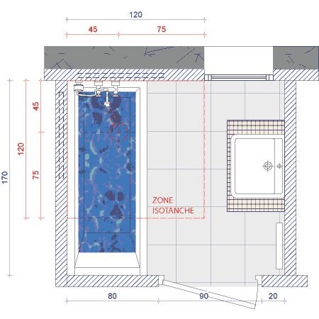 solutions sols de douches handicap salle de bain. Black Bedroom Furniture Sets. Home Design Ideas